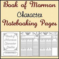 free printable picture of the book of mormon free book of mormon character study notebooking