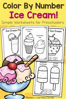 color by number worksheets for preschool ice mamas learning corner