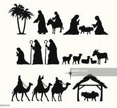 vektorgrafik nativity silhouette kindergarten handwork