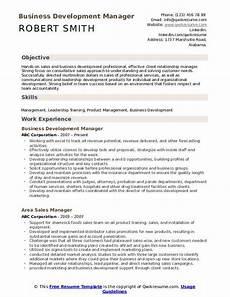 business development manager resume sles qwikresume