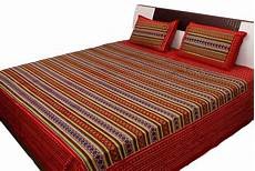buy sangneri printed geometric pattern double bed sheet online
