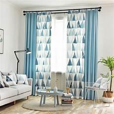 vorhang wohnzimmer moderner vorhang einf 228 rbig und dreieck motiv f 252 r