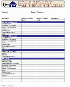 move in move out walk through checklist ez landlord forms