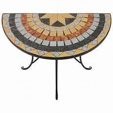 mosaiktisch garten b ware mosaik wandtisch halbrund 70x35xh71cm mosaiktisch