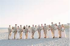 southern wedding beach bridal party