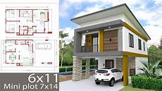 small home design plan 6x11m with 3 bedrooms youtube