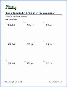 dividing decimals worksheet no remainders 7230 grade 4 division worksheet 4 digit by 1 digit numbers with no remainder decimals