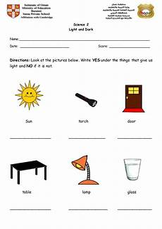 science worksheets for grade 2 light and 12098 light and worksheet