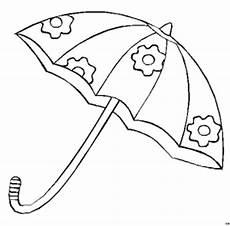 Gratis Malvorlagen Regenschirm Craft Regenschirm 3 Ausmalbild Malvorlage Spielzeug