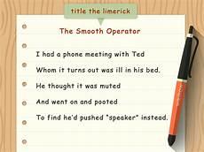 how to write a limerick with sle limericks wikihow