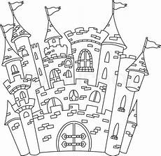 outlined castle stock vector colourbox