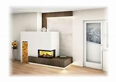 deko ofen wohnzimmer moderner kachelofen mit eckfenster indirekter beleuchtung