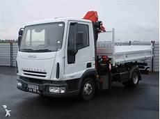 camions iveco tri benne cif eurocargo 75e17 4x2 gazoil grue