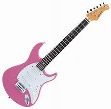 pink guitar musical instruments electronics cascio interstate