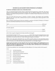 short form for island rhode island short form power of attorney legal forms and business templates megadox com