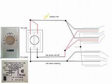 wiring installing double pole line voltage thermostat home improvement stack exchange