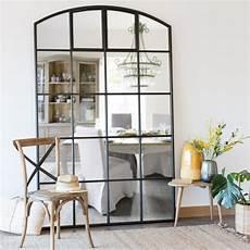 Spiegel Mit Schwarzem Metallrahmen 135x210 Allen Maisons