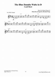 download the blue danube waltz in d key lead sheet sheet music by johann strauss jr sheet