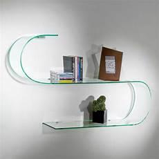 mensole design mensole design in vetro trasparente curvato surf