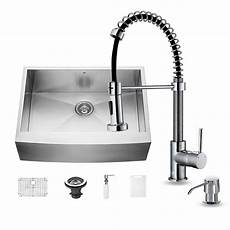 kitchen sink faucets at home depot vigo all in one farmhouse apron front stainless steel 30 in single bowl kitchen sink with