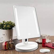 tavolo illuminato auxmir specchio da trucco illuminato con 20 led specchio