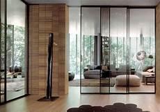 cloison verre coulissante cloison coulissante en verre ou bois pour la maison moderne