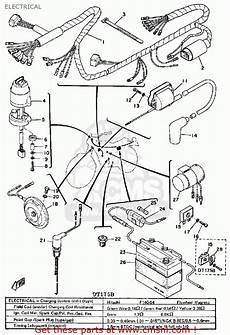 1975 yamaha dt 125 wire schematic yamaha dt175 1975 usa electrical schematic partsfiche