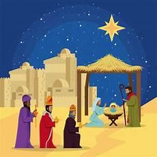 traditionelles christliches weihnachten premium vektor