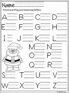 santa capital letter writing practice kindergarten