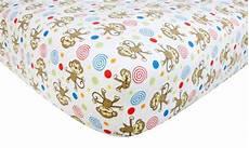 trend lab flannel crib sheet monkey baby baby