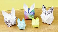 Origami Vögel Falten - oster deko falten s 252 223 e osterhasen diy idee basteln mit