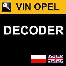 Vin Opel Decoder For Pc