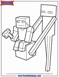 Malvorlagen Minecraft Enderman Enderman Holds Block With Steve On Top Coloring Page