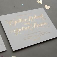Gold Foil Printing Wedding Invitations