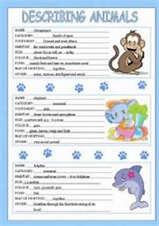english worksheets describing animals 1 3