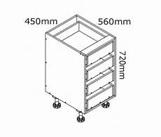 Kitchen Drawers Flat Pack by 450mm 4 Drawer Base Cabinet Kaboodle Kitchen