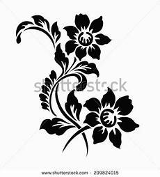 flower motif for design henna stencils flower