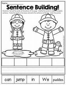 building sentences worksheets for grade 2 21034 math and literacy packet kindergarten kindergarten writing kindergarten language