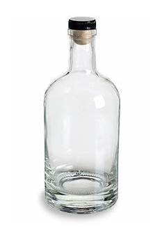 heavy base liquor bottle with t top cork 750 ml