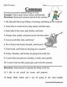 new 789 first grade worksheets using commas firstgrade worksheet