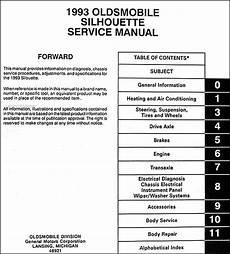 free car manuals to download 1993 oldsmobile silhouette transmission control 1993 oldsmobile silhouette van repair shop manual original