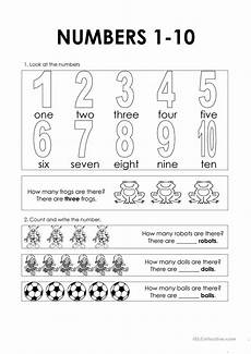 numbers 1 10 worksheet free esl printable worksheets made by teachers