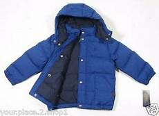 polo ralph boys royal blue puffer jacket with