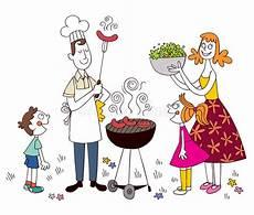 motive familie familien grill vektor abbildung illustration kinder