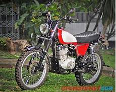 Modifikasi Suzuki Thunder 125 by Foto Modifikasi Suzuki Thunder 125 Retro Scrambler
