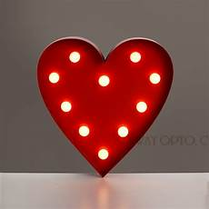 retro vintage contemporary warm white led battery operated red heart shaped led wall lights for
