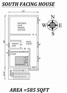 south face house plan per vastu 17 x30 south facing house plan as per vastu shastra