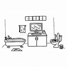Vektor Handzeichnung Der Toiletten Sch 252 Ssel Im Badezimmer