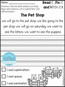 picture writing worksheets for grade 2 22822 free fix it up sentences grade writing 1st grade writing teaching writing