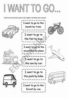 transportation worksheets esl 15184 means of transport esl worksheet by marimaise